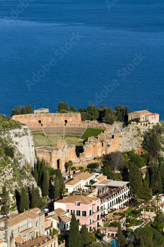 Fototapete Ancient greek Theater at Taormina