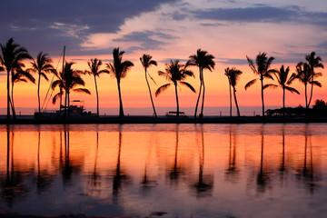 Paradise beach sunset tropical