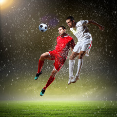 Keuken foto achterwand voetbal Two football player