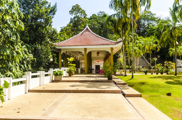 gazebo in a Buddhist monastery in the Chinese style