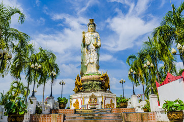 Statue of the Buddhist goddess of mercy a monastery in Thailand