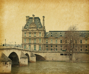 Seine. Bridge Pont Royal in central Paris, France.