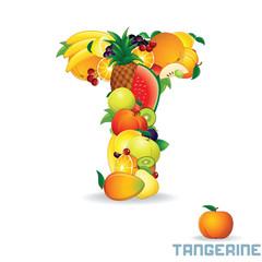 Alphabet From Fruit. Letter T