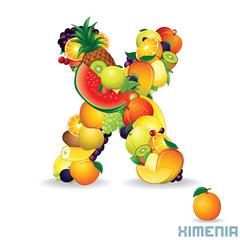 Alphabet From Fruit. Letter X
