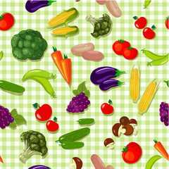 Vegetable seamless texture 10 eps