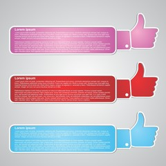 like button vector labels