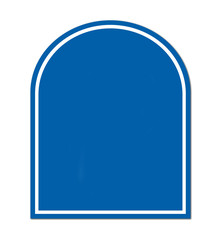 blue blank sign