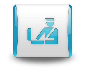 "Light Blue 3D Effect Icon ""Customs Symbol"""