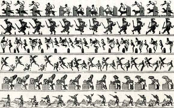 Bands of zoetrope pictures
