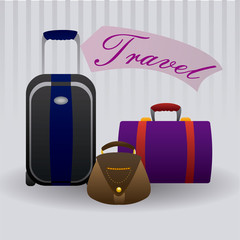 suitcases travel design