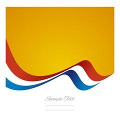 Abstract Netherlands flag ribbon vector