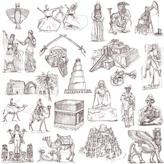 Middle East collection - full sized hand drawings on white