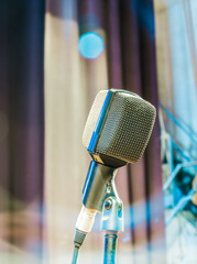 The old microphone on stage