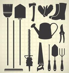 Vector Set: Garden Tool Silhouettes