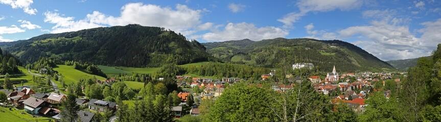 Wall Mural - Murau in der Steiermark, Panorama