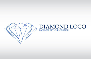 Luxury logo, diamond logotype