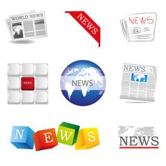 News Icon Zeitung News Nachrichten Aktuelles Welt Set