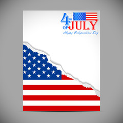 background in American flag color for American Independence Day