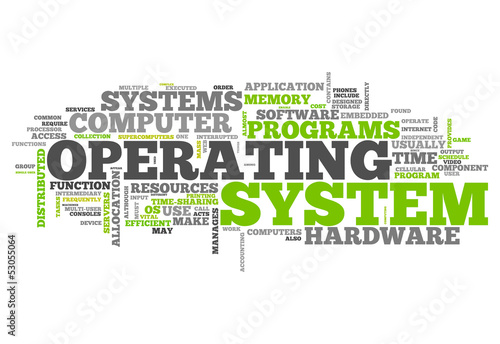 a description of an operating system as an intermediary between a user of a computer and the compute