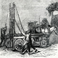 Making of tube well (ca. 1890)