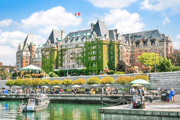 Aluminium Prints Canada Beautiful view of Inner Harbour of Victoria, BC, Canada