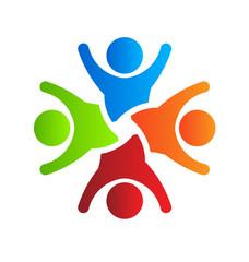 Happy party team 4 Logo vector