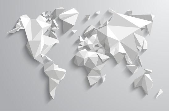 Triangle-world Map illustration