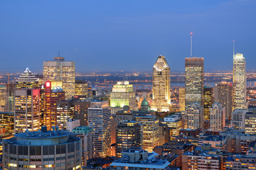 Foto op Canvas Canada Montreal at dusk