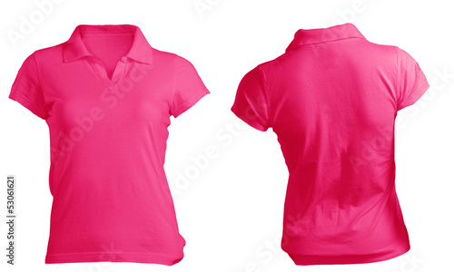 Polo shirt template front and back images template for Pink t shirt template