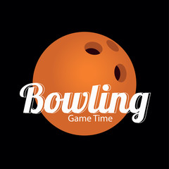 orange bowling ball