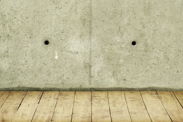Concrete crack wall and light floor