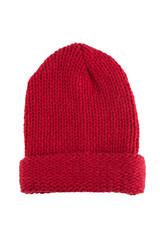 Knit hat on white