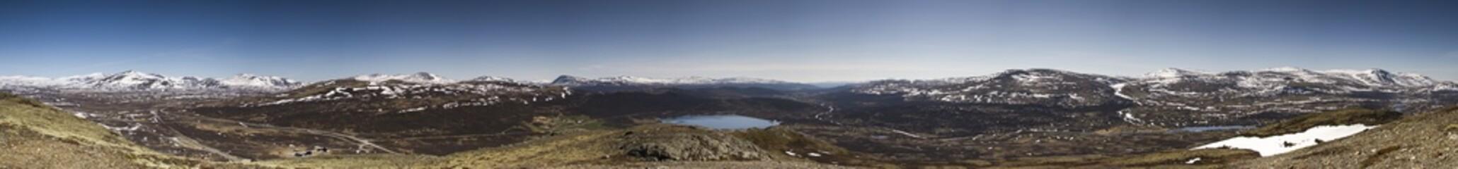 Panorama: Norwegen, Dovrefjell im Mai
