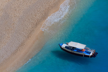 Motor boat in the Ionian sea