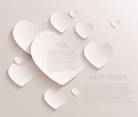 Vector heart background. Eps10
