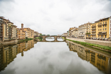 Bridge and Clouds Over Arno