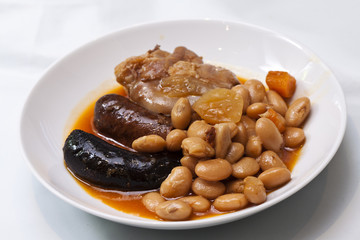 Fabada typical spanish meal