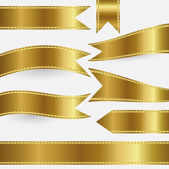 set of gold ribbons