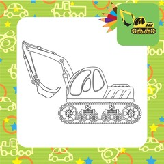 Dredge toy. Coloring book. Vector illustration