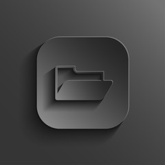 Folder icon - vector black app button