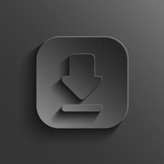 Download icon - vector black app button