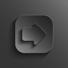 Arrow icon - vector black app button