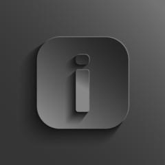 Info icon - vector black app button