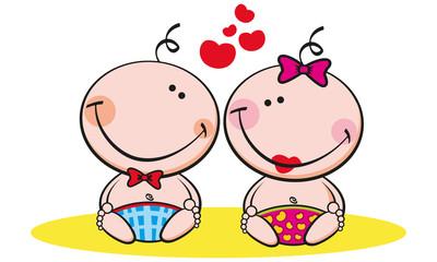 neonati innamorati