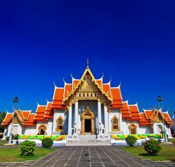 Photo sur Aluminium Lieu de culte Wat Benchamabophit in Bangkok of Thailand