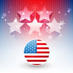 stylish american flag design