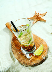 Mojito rum cocktail