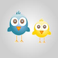 Cartoon of two birds