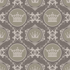 background vintage: wallpaper, pattern, vector illustration