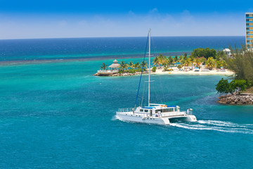 Canvas Prints Caribbean Catamaran